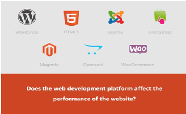 Does the web development platform affect the performance of the ...