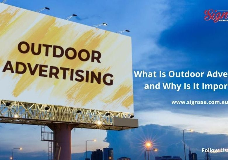 Outdoor signage for business